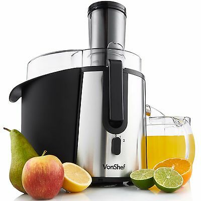 VonShef Juicer Centrifugal Whole Fruit Juice Extractor 990W Citrus Vegetable