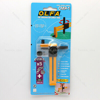 OLFA CMP-1 Compass Circle Cutter Scores & Cuts Up to 6 inch
