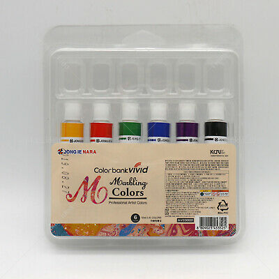 Water Marbling Paint 6 Colors Tube Set 12ml Marble kit