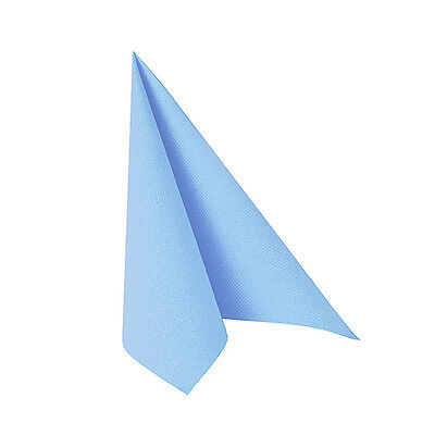 50 Hellblaue Tissue Servietten ROYAL 1/4-Falz 33 cm Party Stoffoptik FSC®