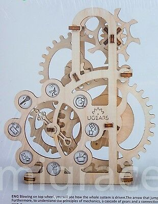 UGears * DYNAMOMETER * Self-propelled mechanical wooden model KIT 3D puzzle