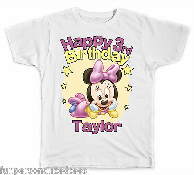 Personalized Disney Baby Minnie Mouse Birthday T-Shirt