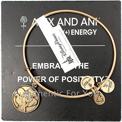 NEW Disney Parks ALEX AND ANI Ariel Little Mermaid GOLD Charm Bracelet RETIRED