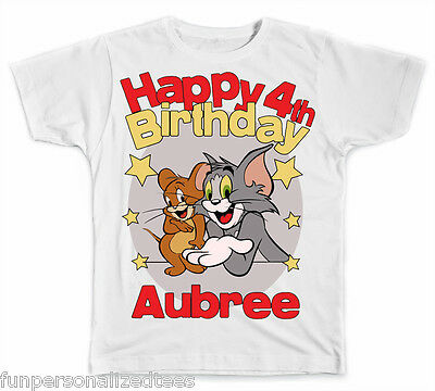 Personalized Tom and Jerry Birthday T-Shirt