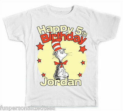 85a5ae0d3 PERSONALIZED DR. SEUSS Name and Initial T-Shirt - $8.99 | PicClick