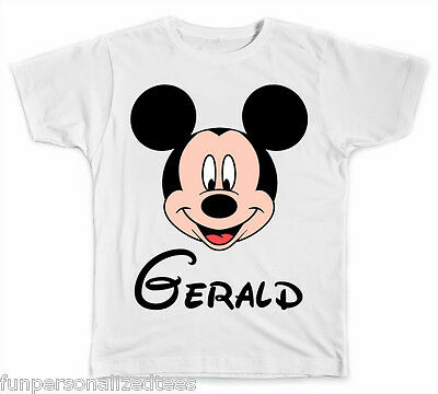 Personalized Disney Mickey Mouse Face T-Shirt