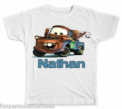 Personalized Tow Mater from Cars T-Shirt