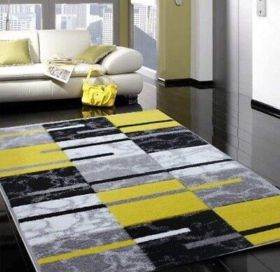 Modern Small Large Silver Grey Yellow Soft Rug Cheap Good Quality Runner Rugs