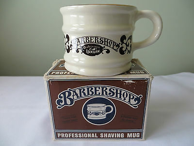 Barber Shop  Professional Shaving Mug  In Box
