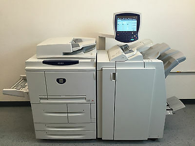 Xerox 4590 Copier Printer Scanner Network with Light Production Booklet finisher