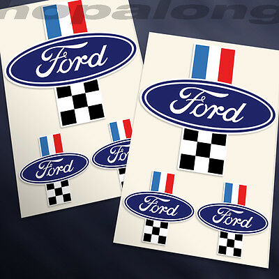 Retro Style 'Ford' Sticker Decals