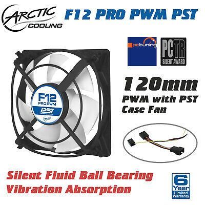 Arctic Cooling F12 PRO Quiet PWM Low Noise 120mm Desktop Case Fan No Vibration