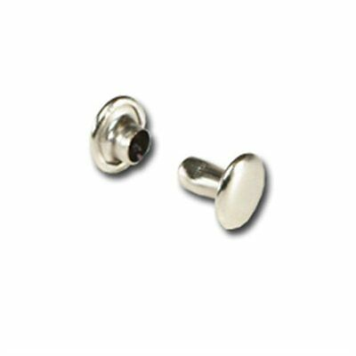 2 pks 100 ea - X Small Double Cap Nickel Plated  Rivets by Tandy - FREE SHIPPING