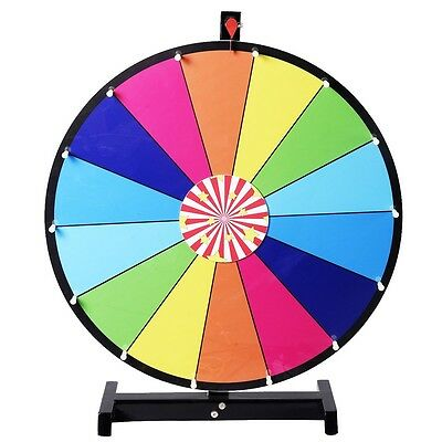 """US 24"""" Color Prize Wheel of Fortune Spinning Game Trade Show Editable Dry Erase"""