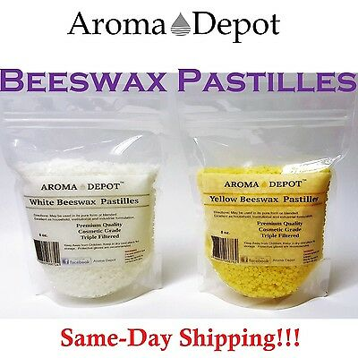 PURE 100% Natural BEESWAX Yellow White PASTILLES BEADS PELLETS Candles Chapstick