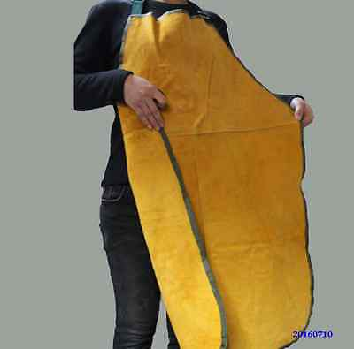 Cow Leather Welders Apron, Chrome Leather Split Cowhide Welding Bib with Straps