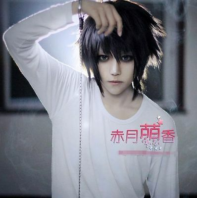 Anime Death Note L·Lawliet Cosplay Wig Hair Cos Accessary