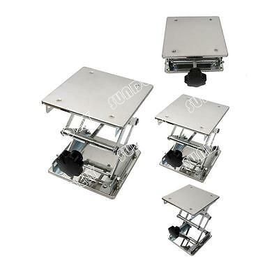 6'' Stainless Steel Lab Stand Table Scissor Lift laboratory Jiffy Jack 150*150mm