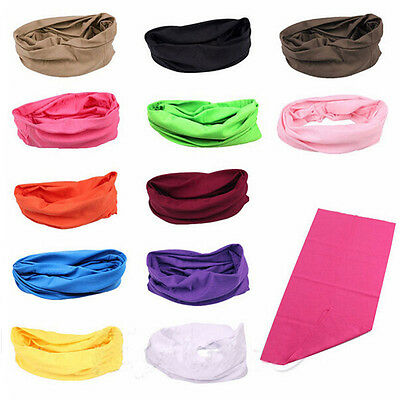 NEW Solid Color Biker Bandana Gym Workout Headband Hair Wrap Tie Handkerchief