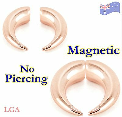 1 x Rose Gold magnetic fake horns  Looks like a talon Body Jewellery A