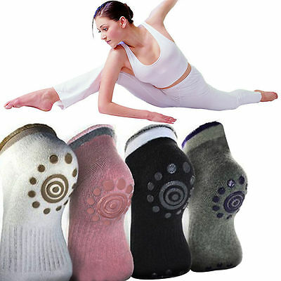 Best 4 Pairs Non Slip Skid Yoga Pilates Socks with Grips Cotton for Women Pack