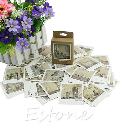 40 Pages A Box Mini Postcard European Landscape Card For Greeting