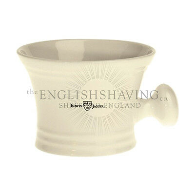 Edwin Jagger Porcelain IVORY Shaving Bowl (With Handle) [NEW, BOXED]