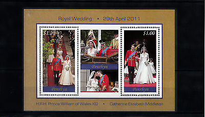 Penrhyn 2011 MNH Royal Wedding 2v Compound M/S Prince William & Kate Stamps