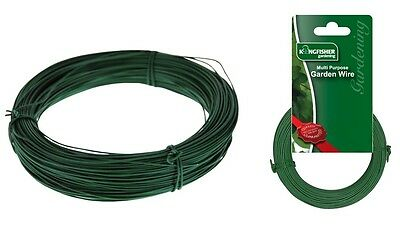 Kingfisher Multi Purpose Green Plastic Coated Garden Wire - 80M x 1MM Approx