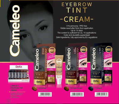 Delia Cosmetics Professional Cameleo Eyebrow Tint Cream Dye Kit Set Full Kit