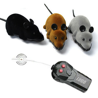 Hot Wireless Remote Control RC Electronic Rat Mouse Mice Toy For Cat Puppy Gift