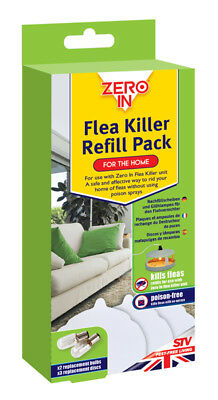 STV Zero In Flea Killer Refill Pack 2 Bulbs 3 Discs Poison Free Pest Control