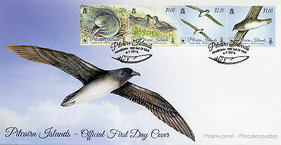Pitcairn Islands 2016 FDC Phoenix Petrel WWF 4v Strip Cover Birds Stamps