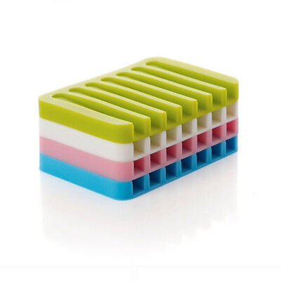 New Colorful Bath Bathroom Shower Silicone Soap Holder Dish Toilet Accesories