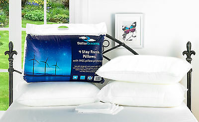 2/4/6/8/10 Pack Easy Care Fresh Betterdreams Pillows With Free Pillow Protectors