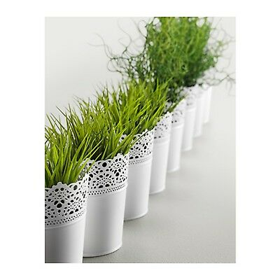 Ikea Skurar Plant Pot Metal Off-White For Indooroutdoor Available In 3 Sizes