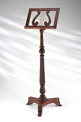 EMS Solid Wooden Victorian Sheet Music Stand, Rosewood **NEW**