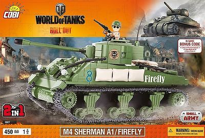Sherman A1 Panzer mit Figuren Waffen World of Tanks WW2 Set von COBI - NEU 3007