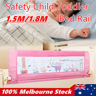 Child Toddler Safety Bed Rail Baby Bedrail Fold Cot Guard Protection 1.5m/1.8m
