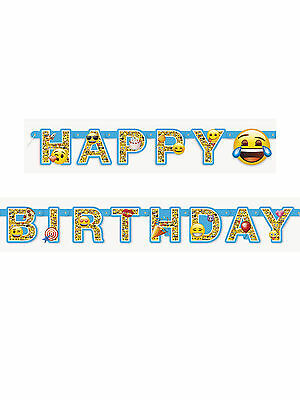 6ft Emoji Faces Birthday Party Happy Birthday Jointed Letter Banner Decoration