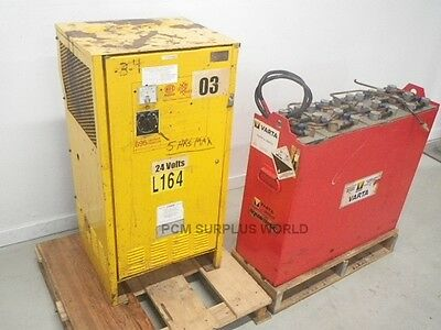 Nife Forklift Battery Charger Model 895 W Varta 12_125Fpb Battery *used & Tested