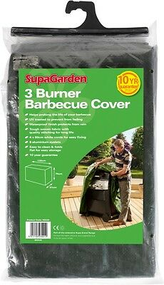 SupaGarden 3 Burner BBQ Barbecue Cover Outdoor Furniture Cover Fabric Waterproof