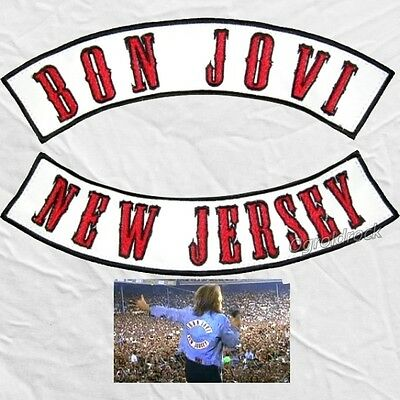 Bon Jovi Replica Embroidered Big Patches Wembley 95 Concert Jon Jacket for Back