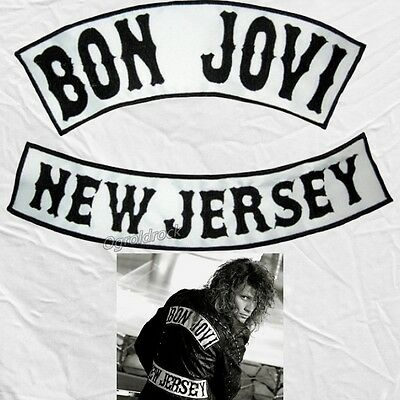 Jon Bon Jovi Embroidered Replica Big Patches New Jersey Jacket Sambora Richie