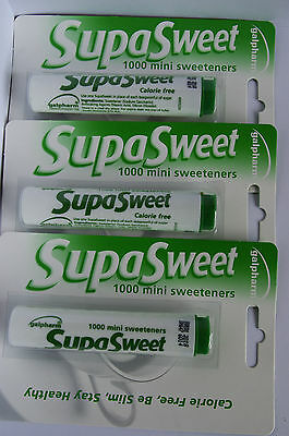 3 Packs Of Galpharm Supasweet Sweeteners 3000 Tablets Slimming Diet