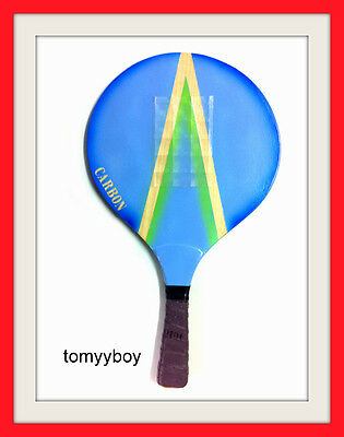 1pc Professional Handmade Paddleball Matkot Half Carbon Fiber Ball Grip Tennis