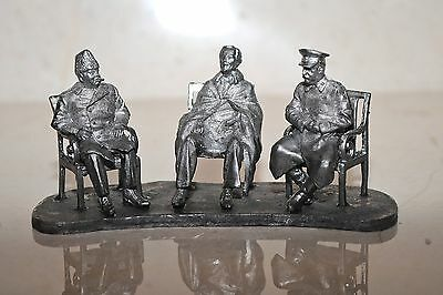Lead toy soldier,Stalin,Churchill,Roosevelt-Yalta 1945,exclusive,collectable