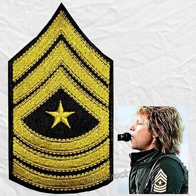 Bon Jovi Replica Sargent Rank Logo Embroidered Patch Rock Band Jon John Richie