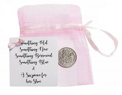 Wedding Bride Gift Lucky Sixpence Something For Her Shoe Good Luck Keepsake