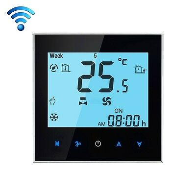 TECNICO LCD Display Air Conditioning 2-Pipe Programmable Room Thermostat for Fa